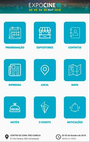 2bb1635f89 Portal Exibidor - Expocine18 lança app com diversas novidades